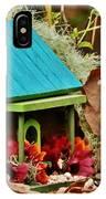 Log Cabin Birdhouse In Fall IPhone Case
