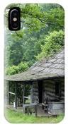 Log Cabin Fort New Salem IPhone Case