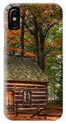 Log Cabin In Autumn Color IPhone Case