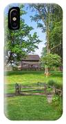 Log Cabin In The Trees IPhone Case