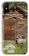 Log Cabin Kantishna, Alaska, Mnt IPhone Case