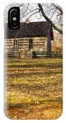 Log Cabin On A Hill IPhone Case