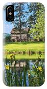 Log Cabin Reflections IPhone Case