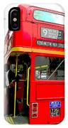 London Bus Heading To Kensington IPhone Case