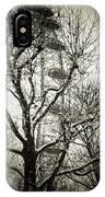 London Eye Through Snowy Trees IPhone Case