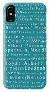 London In Words Teal IPhone Case