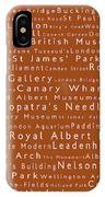 London In Words Toffee IPhone Case
