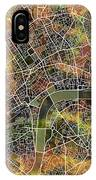 London Map Brown IPhone Case
