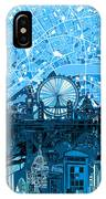London Skyline Abstract Blue IPhone Case