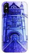 London Tower Bridge Tinted Blue IPhone Case