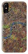 London Wall Map IPhone Case