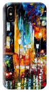 Londons Lights - Palette Knife Oil Painting On Canvas By Leonid Afremov IPhone Case