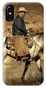 Lone Cowboy IPhone Case
