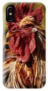 Lone Farm Rooster Portrait IPhone Case