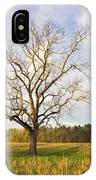 Lone Tree In Cades Cove IPhone Case