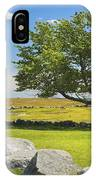 Lone Tree With Blue Sky In Blueberry Field Maine IPhone Case
