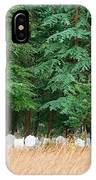 Lonely Graveyard Under Pine Trees IPhone Case