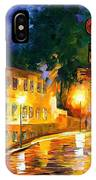 Lonely Night - Palette Knife Oil Painting On Canvas By Leonid Afremov IPhone Case