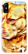Lonely Pit Bull IPhone Case