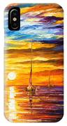 Lonely Sea 3 - Palette Knife Oil Painting On Canvas By Leonid Afremov IPhone Case