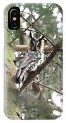 Long Eared Owl At Attention IPhone Case