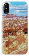 Long Logs Trail In Rainbow Forest In Petrified Forest National Park-arizona  IPhone Case