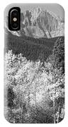 Longs Peak Autumn Scenic Bw View IPhone Case