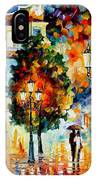 Lonley Couples - Palette Knife Oil Painting On Canvas By Leonid Afremov IPhone Case