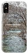 Looking Down Clifty Creek IPhone Case