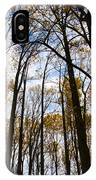 Looking Skyward Into Autumn Trees IPhone Case
