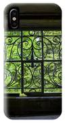 Looking Through Old Basement Window On To Vibrant Green Foliage Fine Art Photography Print  IPhone Case