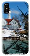 Looking Through The Pines - Sturgeon Bay Coast Guard Station IPhone Case