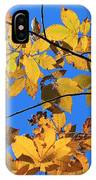 Looking Up To Yellow Leaves IPhone Case