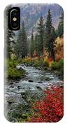 Loon Creek In Fall Colors IPhone Case