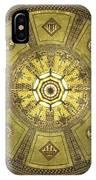 Los Angeles City Hall Rotunda Ceiling IPhone Case