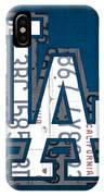 Los Angeles Dodgers Baseball Vintage Logo License Plate Art IPhone Case