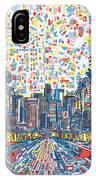 Los Angeles Skyline Abstract 3 IPhone Case