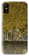 Los Angeles Skyline Abstract 4 IPhone Case
