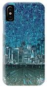 Los Angeles Skyline Abstract 5 IPhone Case