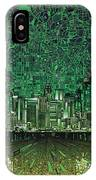 Los Angeles Skyline Abstract 6 IPhone Case