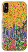 Los Angeles Skyline Abstract IPhone Case