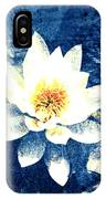 Lotus On Blue IPhone Case