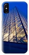 Louvre Pyramid At Dusk IPhone Case