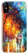 Love By The Lake - Palette Knife Oil Painting On Canvas By Leonid Afremov IPhone Case