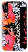 Love Fall Edition IPhone Case