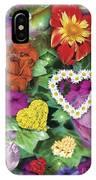 Love Flowers Garden IPhone Case