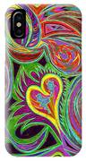 love in every shade of U v7 - love in every shade of blue IPhone Case