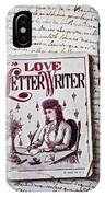 Love Letter Writer Book IPhone Case