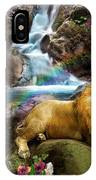 Love Lion Waterfall IPhone Case