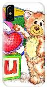 Love You Teddy Bear IPhone Case